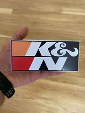 K/&N Air Filter Authentic Glossy STICKER DECAL Performance Racing OEM 2 decals