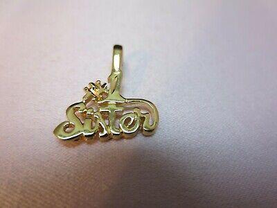 14KT GOLD EP HAPPY BIRTHDAY DIAMOND CUT CHARM PENDANT-1530