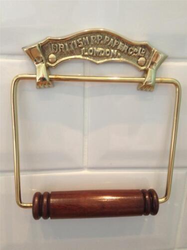 Style Vintage Chrome//laiton//bronze journal britannique Porte-rouleaux de papier toilette salle de bain