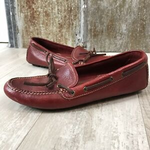 bcc2a35ef32 Image is loading Coach-Red-Leather-Slip-On-Moccasin-Loafers-Women-