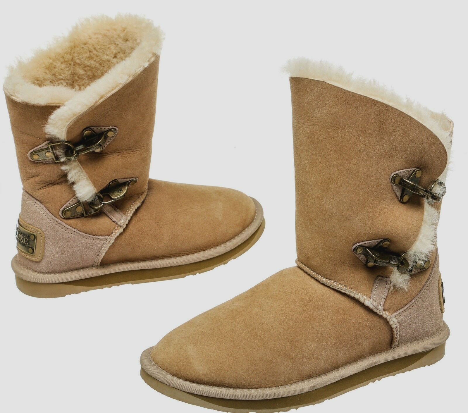 Australia Luxe Collective Womens Renegade Genuine Sheepskin Winter Snow Boots 10