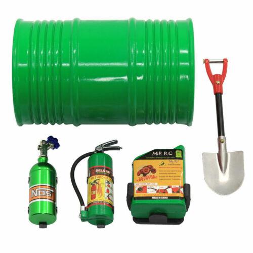 Decoration Kit Shovel Oil Tank Fire Extinguisher For 1:10 RC Crawler Assemblage
