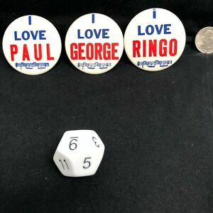I-Love-Paul-Ringo-George-The-Beatles-2-Inch-Pin-Button-Made-in-USA-Set-of-3-80s