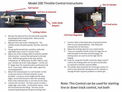 M202V Throttle Stop for Drag Race SBC BBC BBF CO2