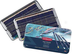 Derwent Colored Pencils Inktense Ink Pencils Metal Tin 72Count (2301843)Assorted