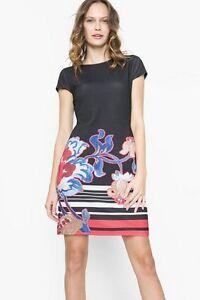 Desigual-CIRILO-Floral-Print-Dress-Sizes-S-to-XXL