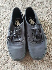 Vans Shoes Sneakers Solid Gray Low Top