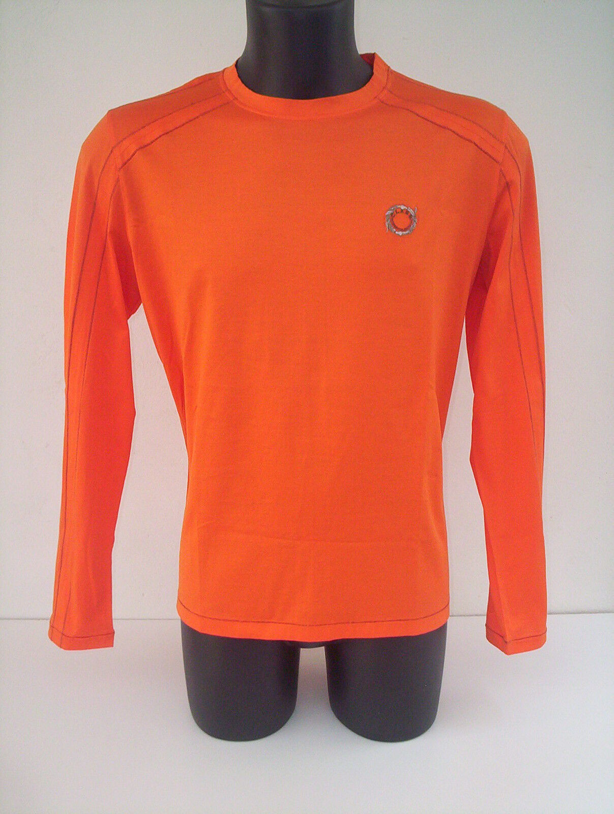 Roberto  Cavalli t- shirt    arancio  tg 46 con finitura coloreata 141205