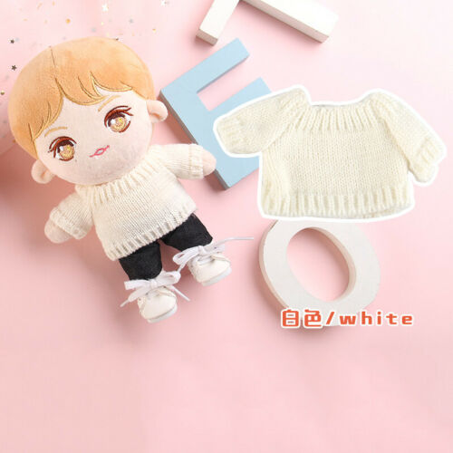 20cm Plush Doll Clothes Knit Sweater Top Baby Doll/'s Accessories Outfit Gift
