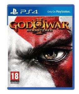 God-OF-WAR-III-Rimasterizzato-PS4-PLAYSTATION-4-Nuovo-di-zecca-consegna-super-veloce
