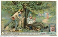 Chromo Liebig. S761 .(1904). Chasse aux papillons . Chasing butterflies