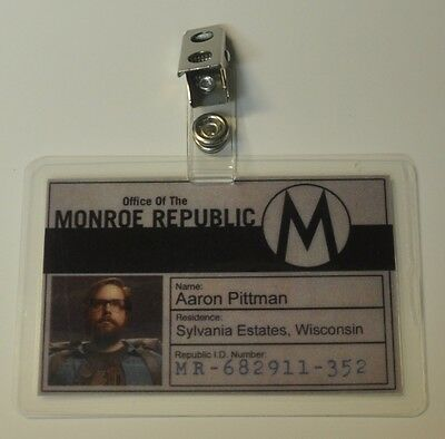 Revolution TV Series ID Badge-Monroe Republic Aaron Pittman