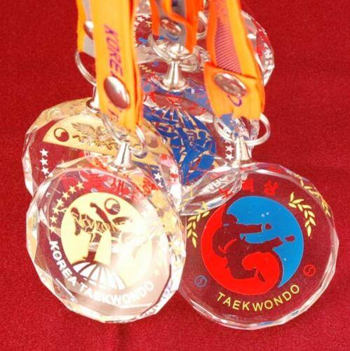 Korea TaeKwonDo medal Crystal 9 variety TKD WTF gym Training Competition Korean