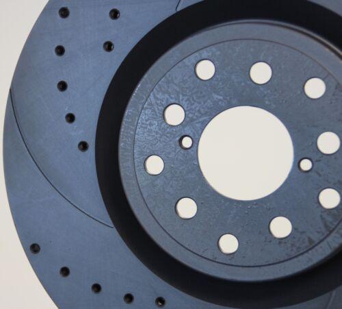 VW Transporter T4 Caravelle Drilled /& Grooved Brake Discs Pads Front 282mm