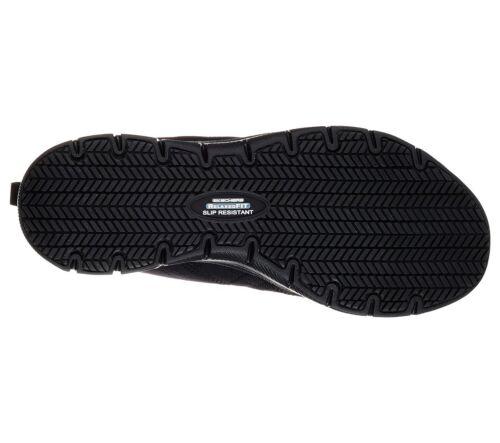 Skechers Work Black shoes Women Memory Foam Slip Resistant Safety Comfort 77211