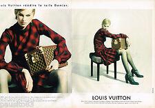 PUBLICITE ADVERTISING 055  1996  LOUIS VUITTON  bagages sacs TOILE DAMIER ( 2 pa