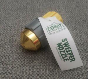 Sweeper Nozzle Jet Spray For Garden Hose Shut Off Valve Metal Body Plastic Grip