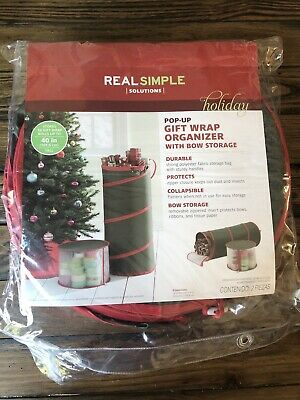 Real Simple Pop Up Gift Wrap And Ribbon Organizer 444100047112 Ebay