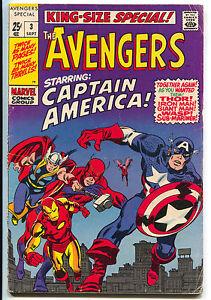 Avengers-Annual-4-Marvel-1969-FN-4-Captain-America-Tales-Of-Suspense-67-68
