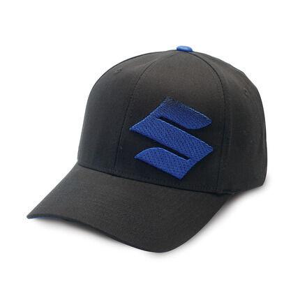 BRAND NEW GENUINE OEM SUZUKI S FADE BLACK / BLUE HAT CAP