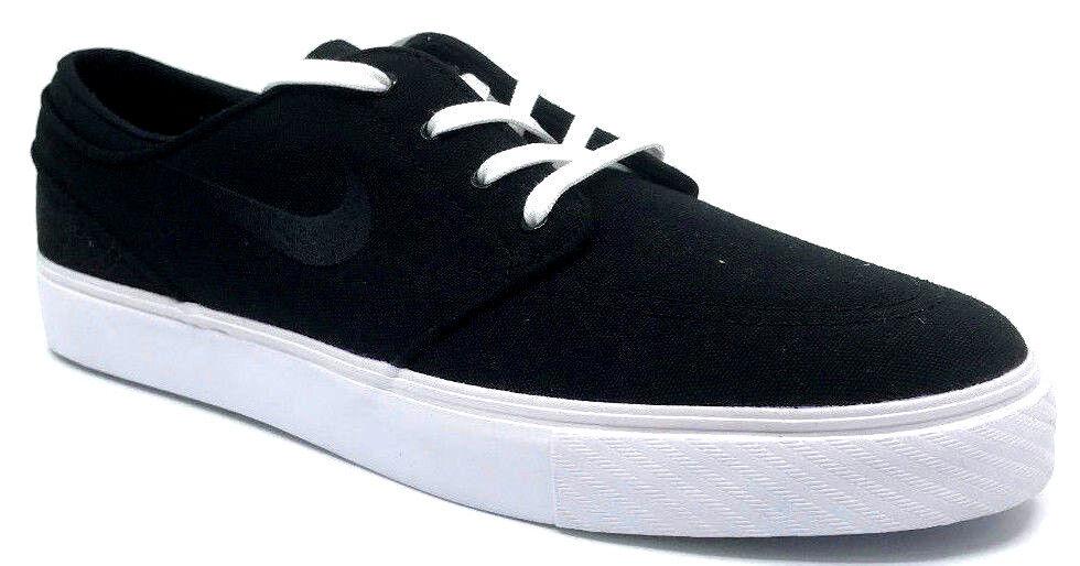 Nike Zoom Stefan Janoski CNVS Mens Sneaker Black White 615957-022 Size 10.5