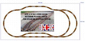 Garden-G-Escala-45mm-Calibre-Rail-Plastico-Railway-Pista-Disposicion-Bateria