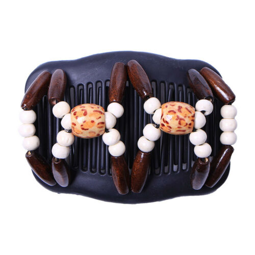 Magic Hair Clip Beads Stretch Double Slide Comb Women Hair Accessories Gifts