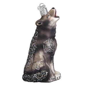 034-Howling-Wolf-034-12163-X-Old-World-Christmas-Glass-Ornament-w-OWC-Box