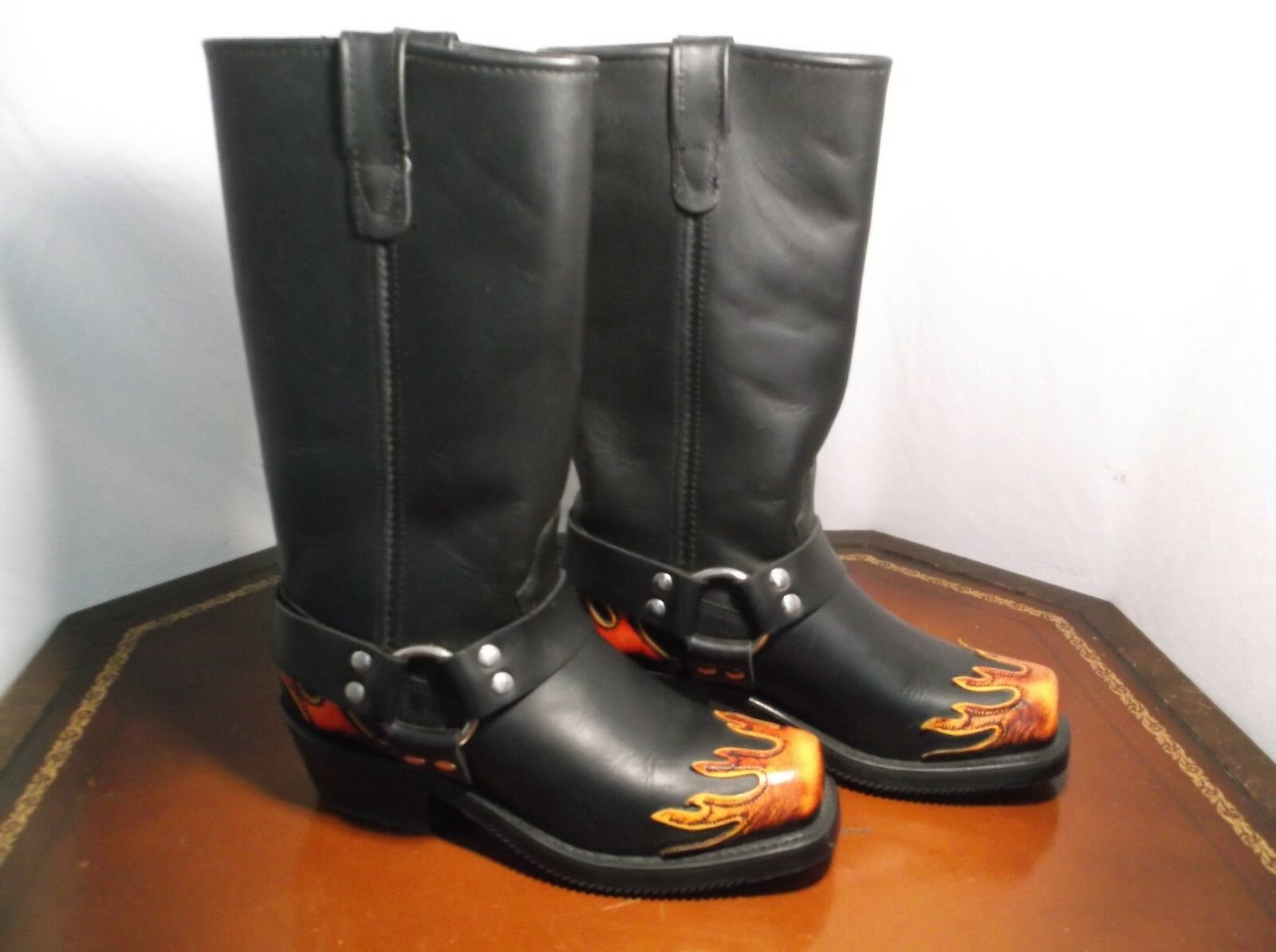 Double HH Motor Cycle 11in Harness Boots Women's Sz.7-7.5 US  5UK 38EU