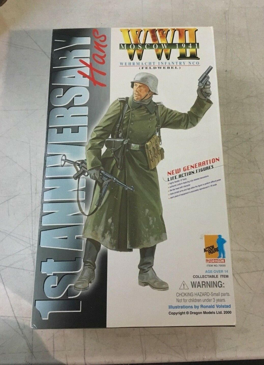 Dragon 1 6 Scale 12  WWII German Hans 70030 Special Autographed Version Figure