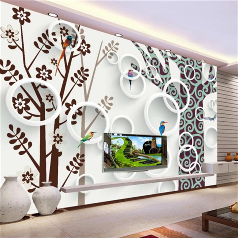 3D Tree Circle Painting 883 Wallpaper Mural Paper Wall Print Wallpaper Murals UK