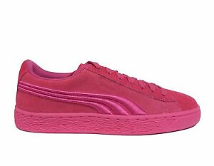 ffe4f09c9bd8 PUMA Junior Girls  SUEDE CLASSIC BADGE JR Shoes Shocking Pink 362951 ...
