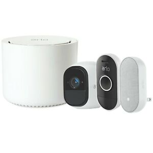 NEW-Netgear-Arlo-Smart-Home-Security-Kit-HD-Pro-Camera-Audio-Doorbell-Chime