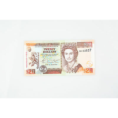 2003 Belize $20 Dollar UNC Notes P69A GEM