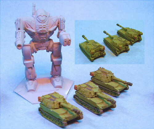 GHQ M109 (3) miniatures suitable for Battletech