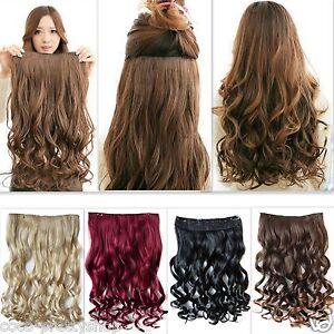 5-Clips-Clip-in-Extensions-Halbperuecke-Haarverlaengerung-Haarteil-Div-Farben