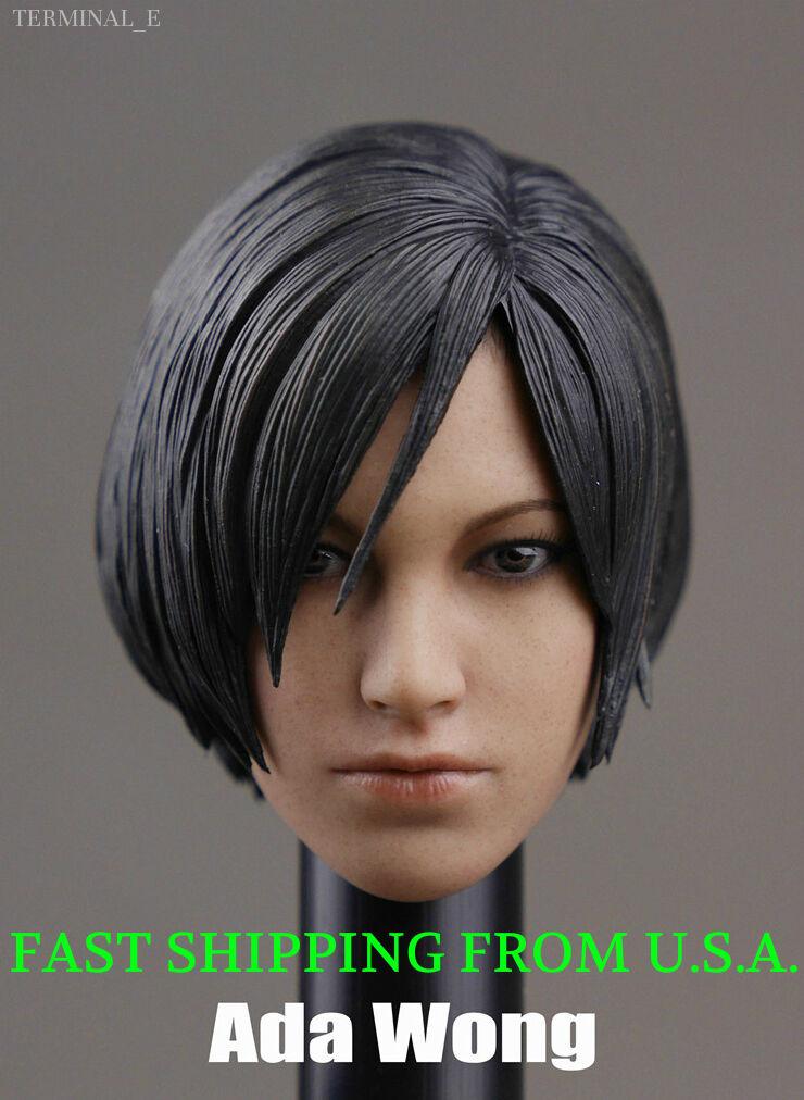 1 6 Ada Wong Head Head Head Sculpt For Resident Evil Hot Toys Phicen Female Figure ❶USA❶ 012708