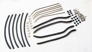 LAMBRETTA LI SERIES 3 BLACK FLOOR RUNNER KIT CHANNEL S.STEEL END CAP /& FIXINGS
