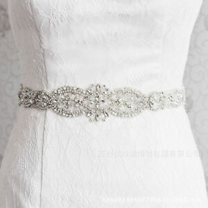 Rhinestone Crystal Applique Wedding Bridal Dress Waist Sash Sew