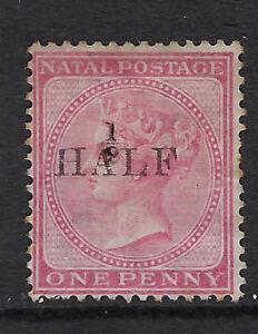 NATAL-1877-1-2d-on-1d-rose-SG-87-unused-no-gum