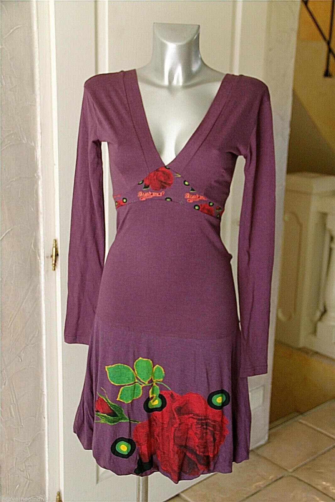 Jolie robe en coton viscose lilate DESIGUAL Größe S  NEUVE ÉTIQUETTE