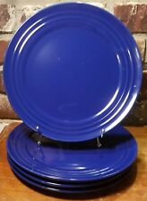 item 6 Rachael Ray DOUBLE RIDGE BLUE RASPBERRY Dinner plate set(s) of 4 11 1/8  New -Rachael Ray DOUBLE RIDGE BLUE RASPBERRY Dinner plate set(s) of 4 ... & Rachael Ray Blue Double Ridge Set of 2 Dinner Plates 11