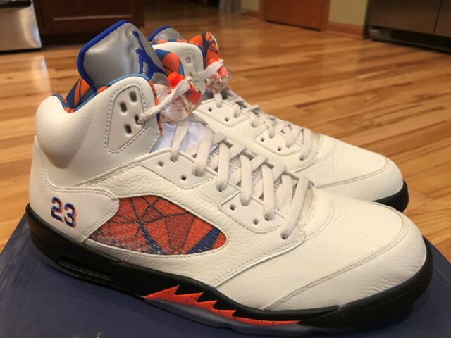 2f3a6cbb09407e Nike Air Jordan 5 Retro International Flight Sail Blue Orange 136027 148  Size 14