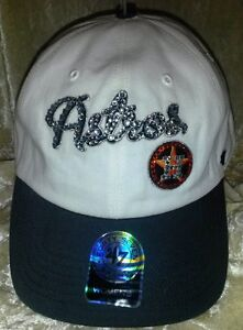 Image is loading Houston-Astros-Womens-Rhinestone-Bling-47-Brand-Baseball- 2c161752a41
