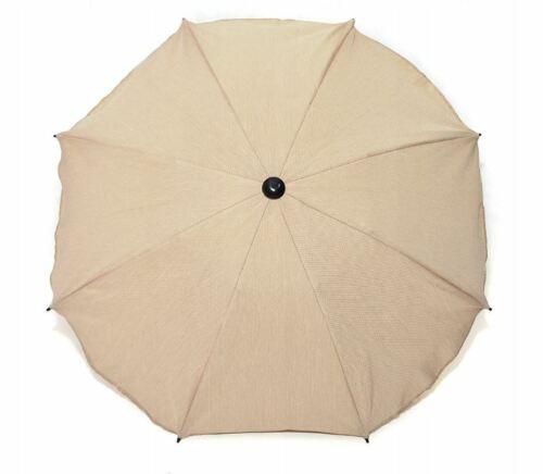 Baby Sun Protection Pram Umbrella Canopy UV Parasol for Pushchair Colour Beige