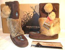 MANITOBAH MUKLUKS Chocolate Brown SNOWY OWL VIBRAM BOOTS Women 8 Mens 6