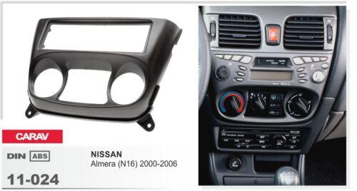 Autoradio façade radio set pour Nissan Almera n16 2001-2005 11-024-018-010
