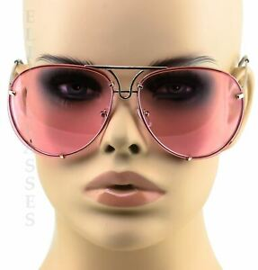 c9a6a491e7c4a Image is loading Oversized-Designer-Aviator-Eyeglasses-Gold-Metal-Frame- Clear-