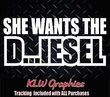 She wants the D * Vinyl Decal Sticker Stacks TRUCK Powerstroke Duramax 2500