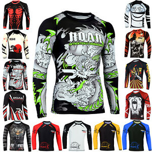 Roar-MMA-BJJ-Wrestling-No-Gi-Grappling-Rash-Guard-UFC-Gym-Training-Shirts